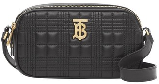 Burberry Black quilted leather cross-body bag