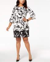 Alfani Plus Size Printed Scuba Fit & Flare Dress, Created for Macy's