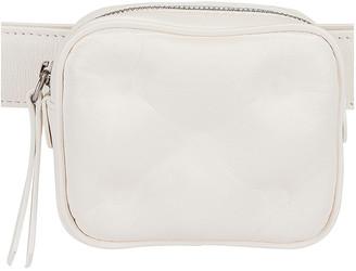 Maison Margiela Glam Slam Belt Box Bag in White | FWRD