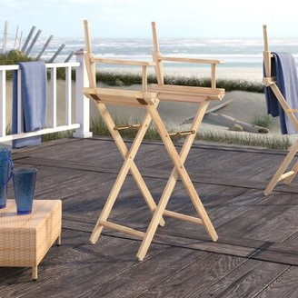 """Bronx Craighead Folding Director Chair Ivy Finish: Natural, Size: 18"""""""
