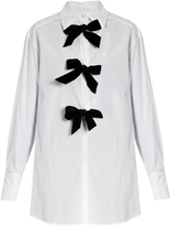 See by Chloe Decorative-bow cotton-poplin shirt