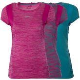 Slazenger Ladies Sports Top Running Gym T shirt Active Wear Womens Sizes 8-16