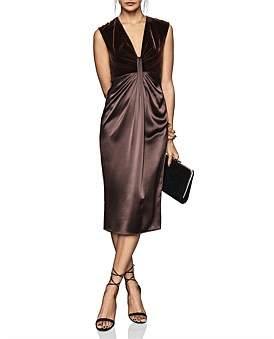 Reiss Livvy Plunge Neckline Midi Dress