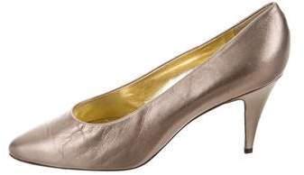Christian Dior Metallic Pointed-Toe Pumps