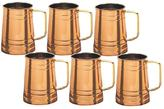 Old Dutch 4.5 in. H Solid Copper Tankard with 1 pt. Brass Handle (Set of 6)