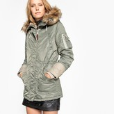 Schott Hooded Parka with Faux Fur