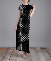 Aster Black & Gray Abstract Maxi Dress - Plus Too