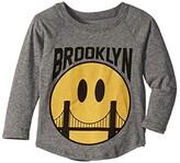 Tiny Whales Brooklyn Long Sleeve Raglan (Infant/Toddler/Little Kids/Big Kids) (Tri Grey) Kid's Clothing