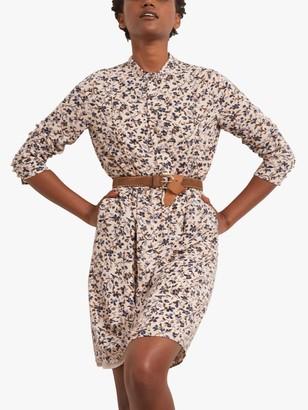 Gerard Darel Thiane Floral Print Shift Dress, Beige/Multi