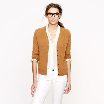 J.Crew Collection cashmere mini-cable cardigan