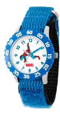 EWatchFactory Marvel Comics: Spider-Man Boys' Stainless Steel Time Teacher Watch