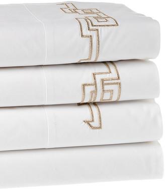 Dea Italian Linens Greek Embroidered Sheet Set