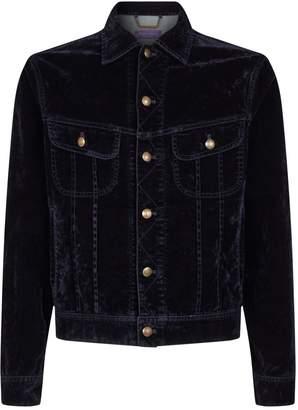 Ralph Lauren Purple Label Velvet Trucker Jacket