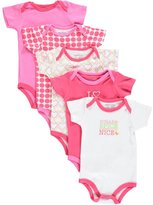 "Luvable Friends Baby Girls' ""Sugar & Spice"" 5-Pack Bodysuits"