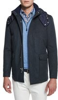 Peter Millar Tempest All-Weather Hooded Jacket, Royal Emerald