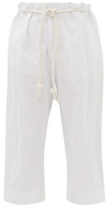 Toogood The Stonemason Cropped Cotton Trousers - Ivory