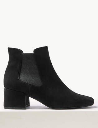 M&S CollectionMarks and Spencer Block Heel Square Toe Chelsea Boots