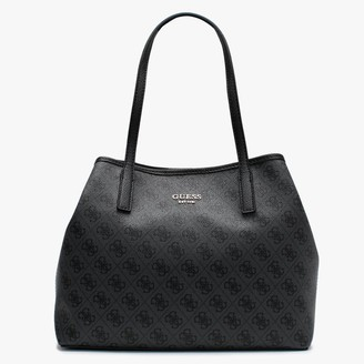 GUESS Vikky Repeat Logo Grey Slouchy Tote Bag