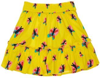 Stella McCartney Kids Butterfly Print Organic Cotton Skirt