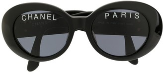 Chanel Pre Owned oversized round sunglasses
