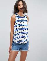 Asos Sleeveless Top in Spot and Stripe Print