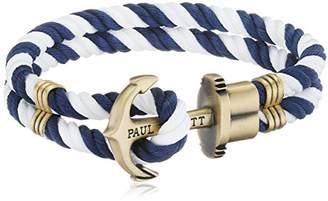 PAUL HEWITT Men Anchor Bracelet PHREP with Nylon Bracelet in Navy Blue-White und Anchor Made of Brass PH-PH-N-NW-S