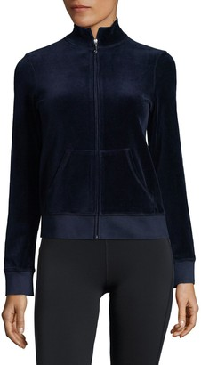 Juicy Couture Velour Zip Up Sweatshirt