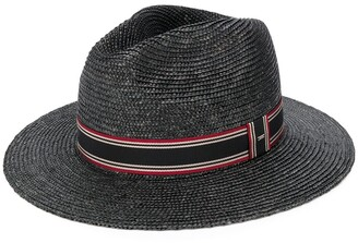 Saint Laurent Stripe Ribbon Panama Hat