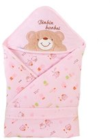 Kylin Express Lovely Baby Receiving Blankets Thick Spring Hooded Swaddleme Bear