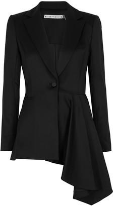 Alice + Olivia Hudson black wool-blend blazer