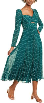 Self-Portrait Cutout Midi Dress