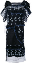 Antonio Marras fringed floral dress - women - Cotton/Linen/Flax/Polyamide/Lyocell - 40