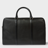 Paul Smith Men's Black 'City Embossed' Leather Holdall