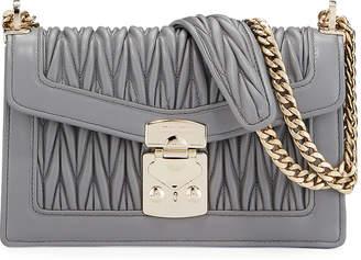 Miu Miu Miu Confidential Matelasse Leather Flap Shoulder Bag