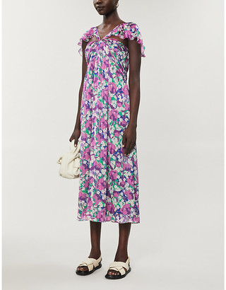 Pinko Trilli floral-print crepe midi dress