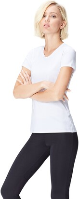 Active Wear Activewear Women's Sports Top with Cap Sleeve and Mesh Back
