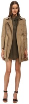 RED Valentino Mackintosh Trench with Eyelet Detail