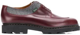 Ermenegildo Zegna Herringbone Panel Lace-Up Shoes