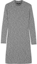 Madewell Cityblock Ribbed Stretch-knit Mini Dress - Gray