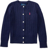 Ralph Lauren 2-6X Cable-Knit Cotton Cardigan