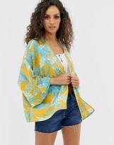 Asos Design DESIGN palm print kimono