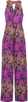 Matthew Williamson Embellished printed silk crepe de chine jumpsuit