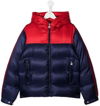 Moncler Enfant TEEN two-tone puffer jacket