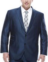Jf J.Ferrar JF Blue Luster Herringbone Big and Tall Fit Suit Jacket