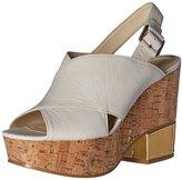 Nine West Women's Imena Leather Wedge Sandal
