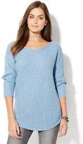 New York & Co. Shirttail Dolman Sweater