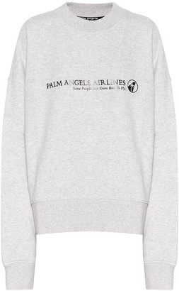 Palm Angels Logo cotton-jersey sweatshirt