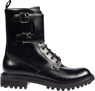 Church's Churchs Double-buckle Strap Lace-up Boots