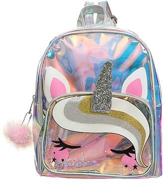 Ella & Elly Women's Backpacks Pink - Holographic Glitter Unicorn Backpack