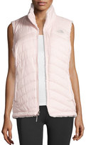 The North Face Mossbud Swirl Fleece & Taffeta Reversible Vest, Pink
